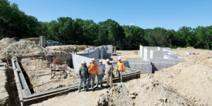 Gigantic house foundation requires preparation, savvy