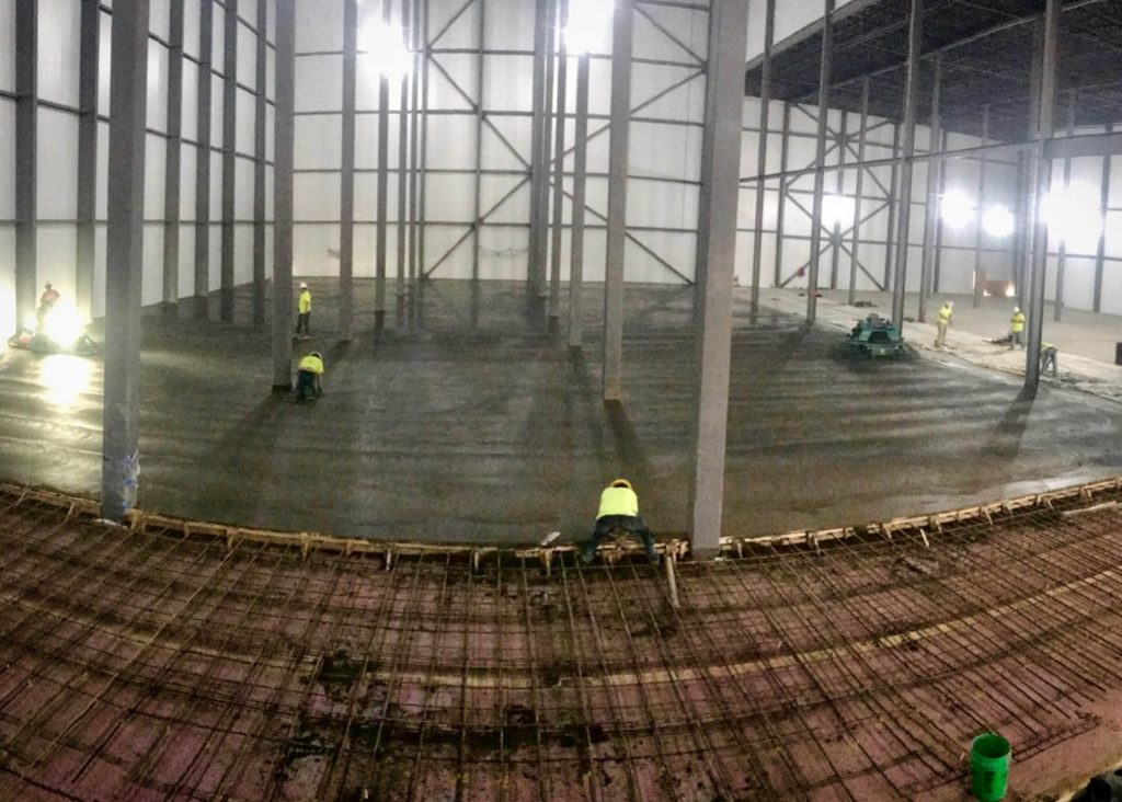 Commercial concrete flatwork performed by concrete contractors of Stephens and Smith in Lincoln, Nebraska