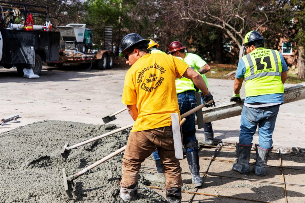 Concrete Contractors Throughout Lincoln And Omaha Doing A Concrete Project