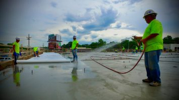 Lincoln concrete contractors of Stephens & Smith working on a commercial project